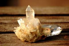 Κρύσταλλο druze του άσπρου σαφούς χαλαζία Στοκ Εικόνα