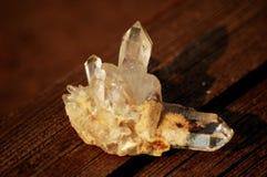Κρύσταλλο druze του άσπρου σαφούς χαλαζία Στοκ Εικόνες