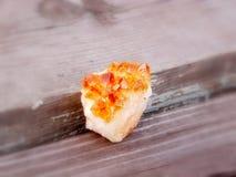 Κρύσταλλο druze του ψευδοτοπαζιακού χαλαζία Στοκ εικόνα με δικαίωμα ελεύθερης χρήσης