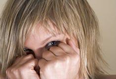 κρύψιμο προσώπου Στοκ εικόνα με δικαίωμα ελεύθερης χρήσης