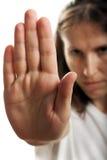 κρύψιμο χεριών προσώπου Στοκ εικόνες με δικαίωμα ελεύθερης χρήσης