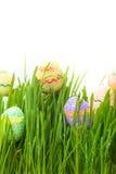 κρύψιμο χλόης αυγών Πάσχας Στοκ εικόνα με δικαίωμα ελεύθερης χρήσης