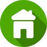 κτήμα έννοιας πραγματικό Μικρό σπίτι - εικονίδιο που απομονώνεται διανυσματικό Στοκ Εικόνα