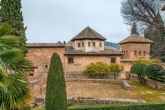 Κτήρια βασιλικού σύνθετου Alhambra, Γρανάδα, Ισπανία Στοκ Φωτογραφίες