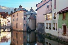 κτήρια Γαλλία του Annecy μεσα& Στοκ Εικόνες