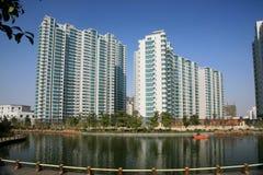 κτήρια διαμερισμάτων Κίνα νέ στοκ εικόνα με δικαίωμα ελεύθερης χρήσης