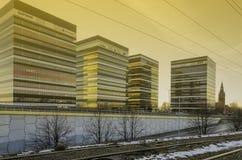 Κτήρια επιχειρησιακών πάρκων της Σιλεσίας σε Katowice στοκ εικόνα με δικαίωμα ελεύθερης χρήσης