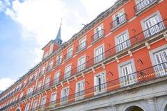 Κτήρια δημάρχου Plaza στη Μαδρίτη, Ισπανία Στοκ φωτογραφία με δικαίωμα ελεύθερης χρήσης