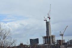 Κτήρια κάτω από την οικοδόμηση σε Stratford Λονδίνο Στοκ εικόνα με δικαίωμα ελεύθερης χρήσης