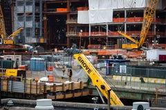 Κτήρια κάτω από την οικοδόμηση σε NYC Στοκ εικόνα με δικαίωμα ελεύθερης χρήσης