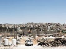 Κτήρια κάτω από την οικοδόμηση στο αρχαίο Jerash Στοκ φωτογραφία με δικαίωμα ελεύθερης χρήσης