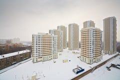 Κτήρια κάτω από την οικοδόμηση Στοκ εικόνα με δικαίωμα ελεύθερης χρήσης