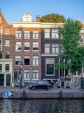 Κτήρια και κανάλια, Άμστερνταμ στοκ φωτογραφία