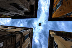 Κτήρια και ουρανοί της Ρώμης Στοκ φωτογραφία με δικαίωμα ελεύθερης χρήσης