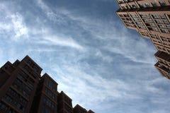 Κτήρια και ουρανός Στοκ Φωτογραφίες