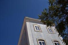 Κτήρια και χαρακτηριστικά σπίτια στο Αλγκάρβε, Πορτογαλία Στοκ Εικόνες
