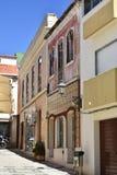 Κτήρια και χαρακτηριστικά σπίτια στο Αλγκάρβε, Πορτογαλία Στοκ εικόνα με δικαίωμα ελεύθερης χρήσης