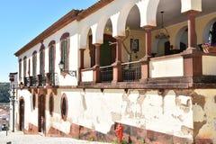 Κτήρια και χαρακτηριστικά σπίτια στο Αλγκάρβε, Πορτογαλία Στοκ Εικόνα