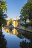 Κτήρια καναλιών της Μπρυζ Βέλγιο στοκ φωτογραφία με δικαίωμα ελεύθερης χρήσης