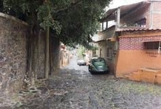 Κτήρια κατά μήκος μιας οδού, Πόλη του Μεξικού, Μεξικό Στοκ Εικόνες