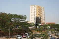 Κτήρια κατά μήκος της γωνίας στοκ φωτογραφία