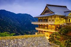 Κτήρια ναών της Ιαπωνίας Nachi στοκ φωτογραφία με δικαίωμα ελεύθερης χρήσης