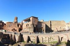 Κτήρια πλησίον από Trajan Forum, Ρώμη Στοκ Φωτογραφίες