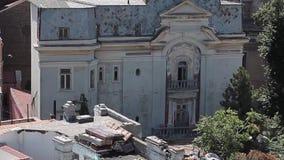 κτήρια που καταστρέφοντα& απόθεμα βίντεο