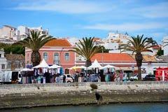 Κτήρια προκυμαιών και αγορά, Λάγκος, Πορτογαλία Στοκ εικόνες με δικαίωμα ελεύθερης χρήσης
