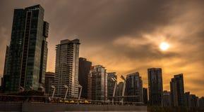 Κτήρια πόλεων στο Βανκούβερ Καναδάς στοκ εικόνα με δικαίωμα ελεύθερης χρήσης