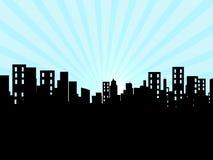 Κτήρια, πόλη, εικονική παράσταση πόλης Στοκ Εικόνες