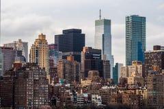 Κτήρια πόλεων της Νέας Υόρκης κατά τη διάρκεια της ημέρας Στοκ Φωτογραφία