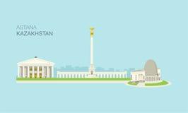 Κτήρια 4 πόλεων Astana Στοκ Φωτογραφίες