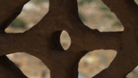 Κτήρια σε ένα οχυρό απόθεμα βίντεο