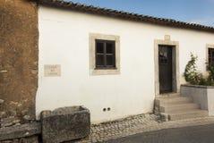 Κτήρια σε Aljustrel κοντά στη Fatima στην Πορτογαλία στοκ φωτογραφία