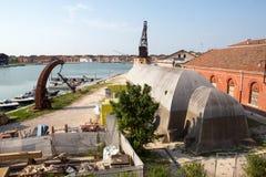 Κτήρια σε Arsenale στη Βενετία Στοκ φωτογραφίες με δικαίωμα ελεύθερης χρήσης