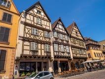 Κτήρια στην καρδιά της μεσαιωνικής Colmar στοκ φωτογραφίες με δικαίωμα ελεύθερης χρήσης