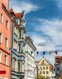 Κτήρια στην παλαιά πόλη του Ρέγκενσμπουργκ, Γερμανία στοκ φωτογραφίες