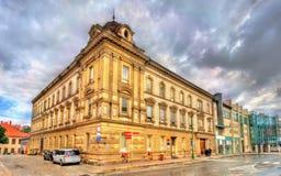 Κτήρια στην παλαιά πόλη Trebic, Δημοκρατία της Τσεχίας Στοκ εικόνα με δικαίωμα ελεύθερης χρήσης