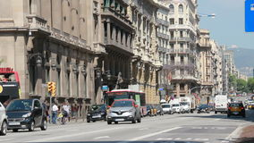 Κτήρια στη Βαρκελώνη, Ισπανία απόθεμα βίντεο