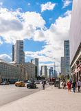 Κτήρια στη νέα οδό Arbat Μόσχα Στοκ φωτογραφίες με δικαίωμα ελεύθερης χρήσης