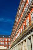 Κτήρια στο δήμαρχο Plaza της Μαδρίτης, Ισπανία Στοκ φωτογραφία με δικαίωμα ελεύθερης χρήσης