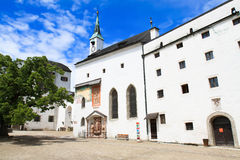 Κτήρια στο κάστρο Hohensalzburg αναγέννησης Στοκ εικόνα με δικαίωμα ελεύθερης χρήσης