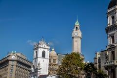 Κτήρια στο στο κέντρο της πόλης Μπουένος Άιρες κοντά σε Plaza de Mayo - το Μπουένος Άιρες, Αργεντινή Στοκ Φωτογραφία