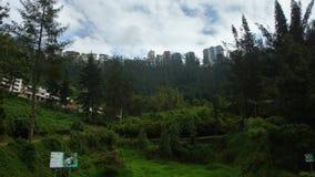 Κτήρια της λεωφόρου Gonzalez Suarez στην πόλη του Κουίτο που βλέπει από το πάρκο Guapulo Στοκ Εικόνα