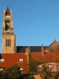 κτήρια της Μπρυζ μεσαιωνικά στοκ εικόνες