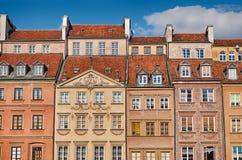 Κτήρια της παλαιάς πόλης της Βαρσοβίας Στοκ Φωτογραφίες