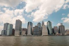 Κτήρια του Λόουερ Μανχάταν στην πόλη της Νέας Υόρκης Στοκ φωτογραφία με δικαίωμα ελεύθερης χρήσης