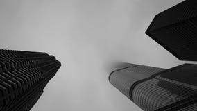 Κτήρια του Σικάγου σε μια ομιχλώδη ημέρα Στοκ Εικόνες
