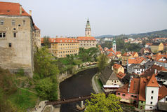 Κτήρια του Castle σε Cesky Krumlov, Δημοκρατία της Τσεχίας Στοκ εικόνες με δικαίωμα ελεύθερης χρήσης